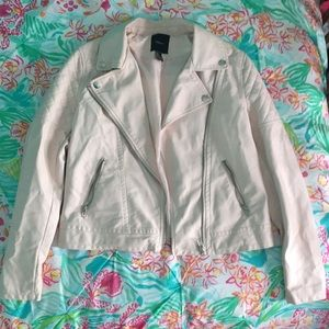 Pink faux leather jacket from Forever21